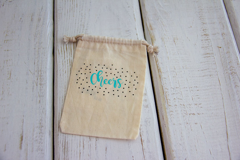 Cheers - Muslin Small Pouch