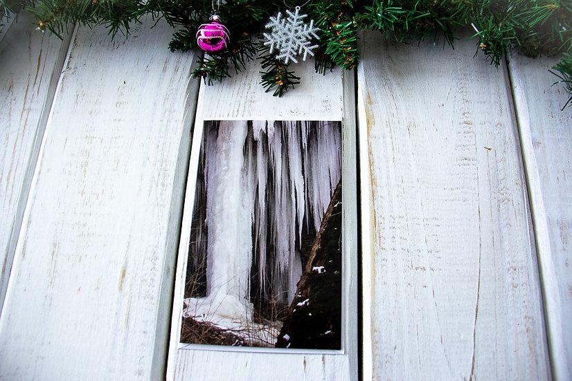 Iced Falls Greeting Card