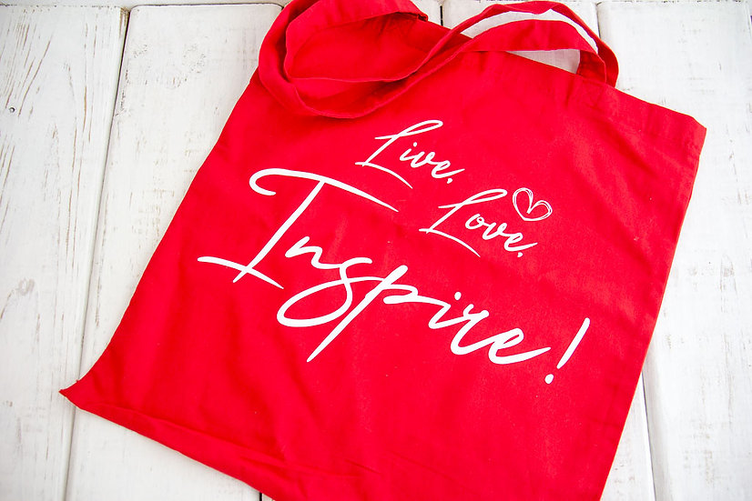 Live, Love, Inspire - 6 oz Reusable Tote