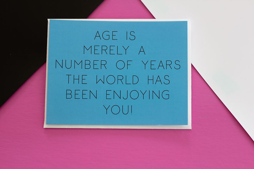 Age is a Number - Post Card
