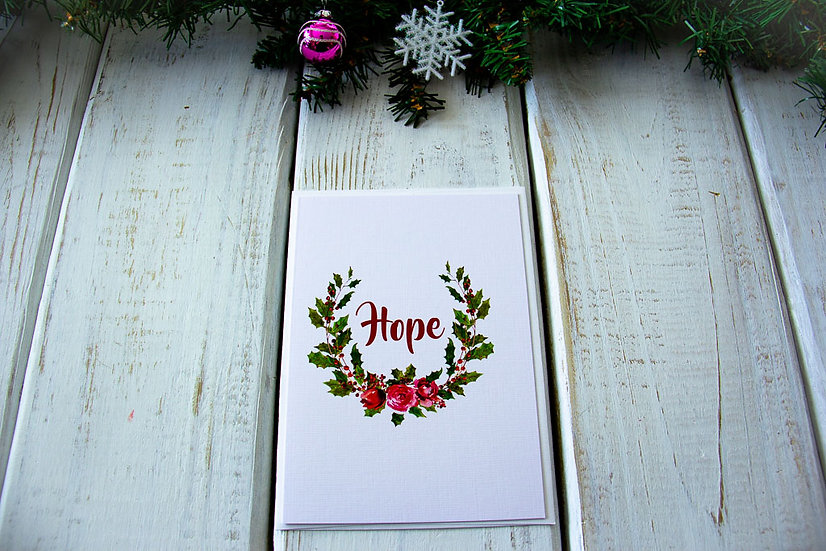 Hopeful Christmas Greeting Card