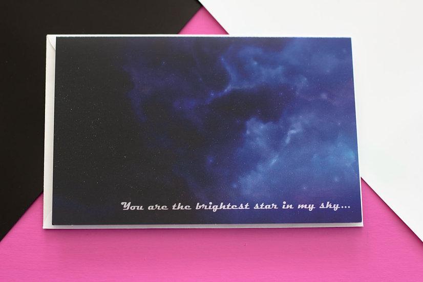Brightest Star - Greeting Card