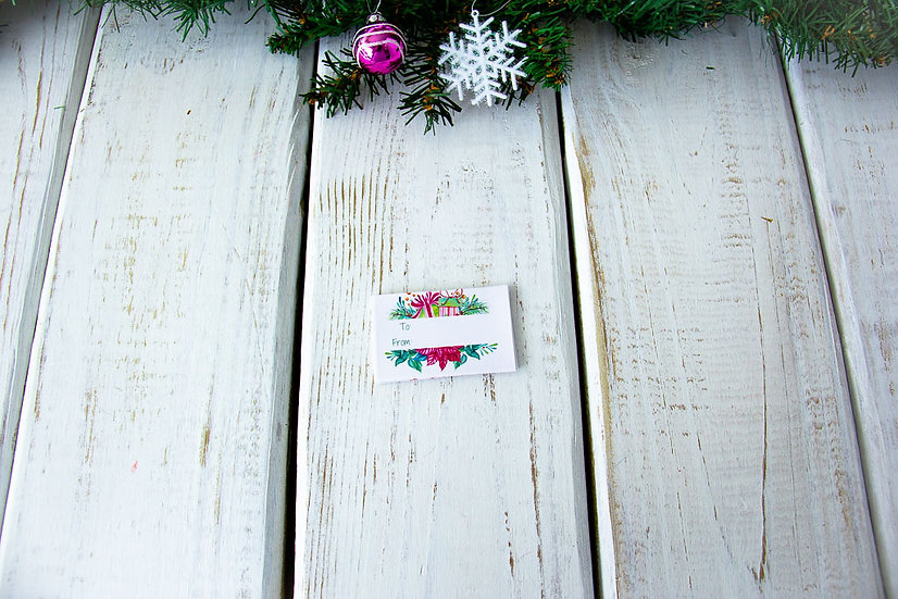 Wreath - Adhesive Gift Tags