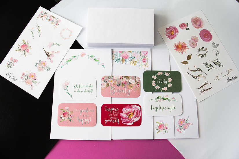 Blush & Gold - Stationery Pack