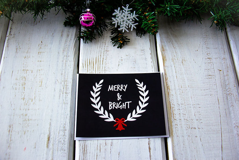 Merry & Bright Postcard