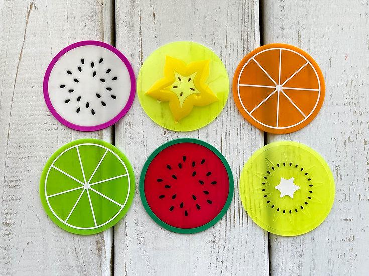 Fruit Shaped Silicone Coasters