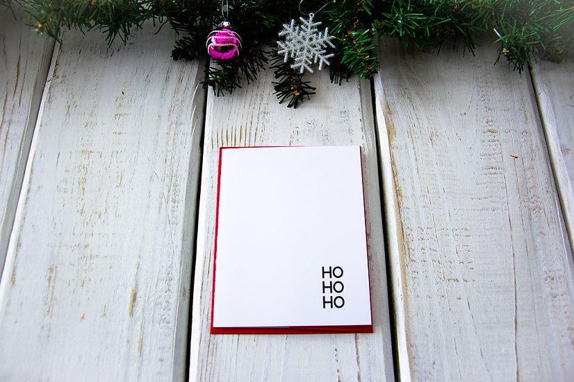 Ho Ho Ho - Note Card