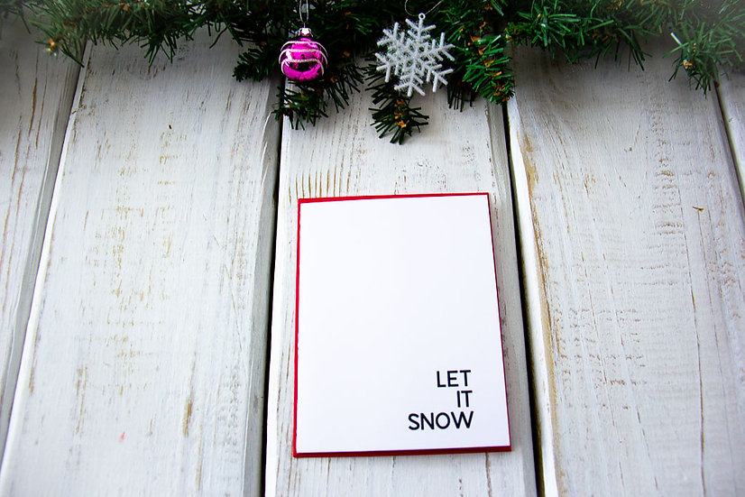 Let it Snow - Note Card