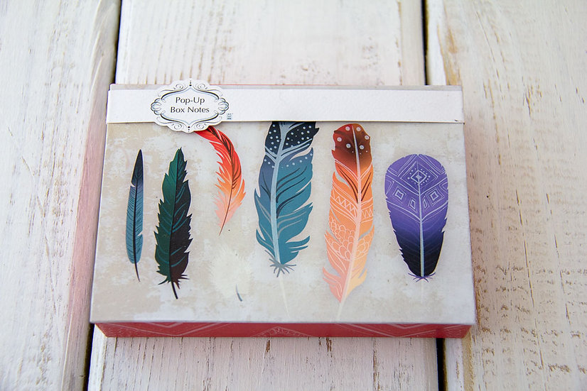 Feather Pop Up Notecards - Qty 8