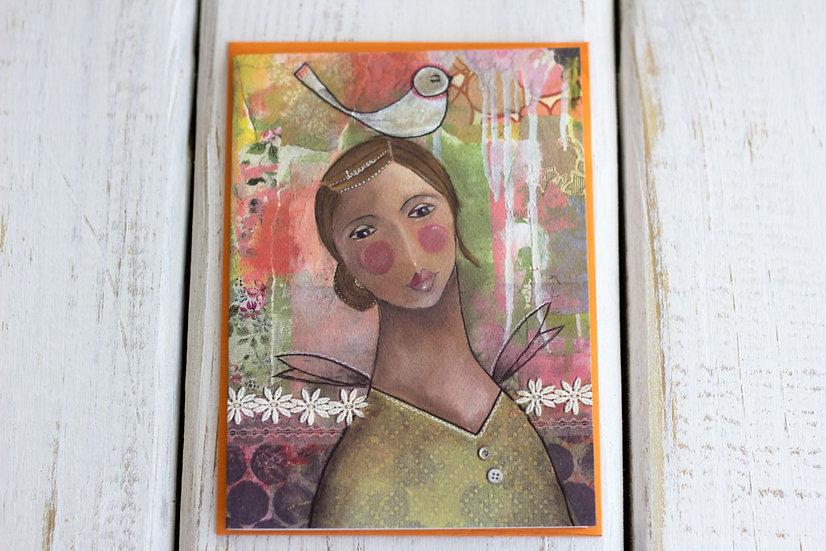 Dreamer Girl (Birthday) - Greeting Card