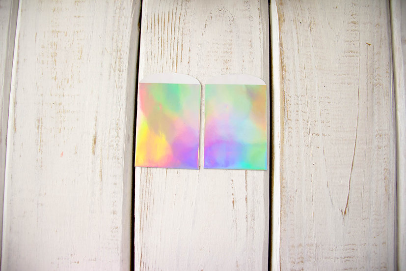 Holographic Paper Gift Card Bags