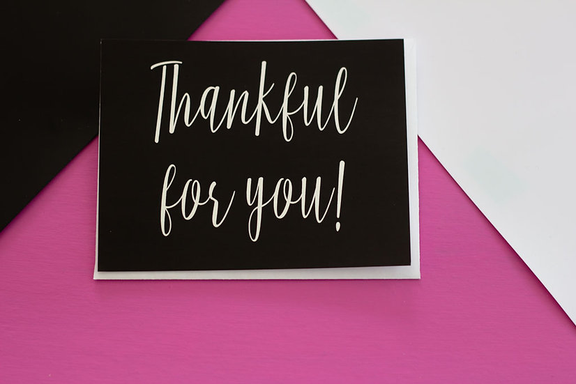 Thankful For You - Post Card