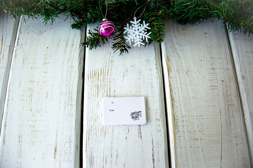 Merry & Bright - Adhesive Gift Tags
