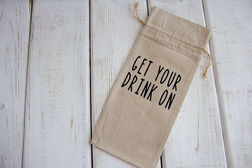 Get Your Drink On - Canvas Alcohol Gift Bag