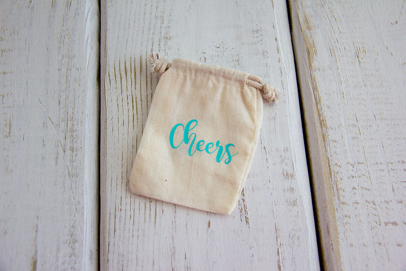 Cheers - Muslin Gift Card Pouch