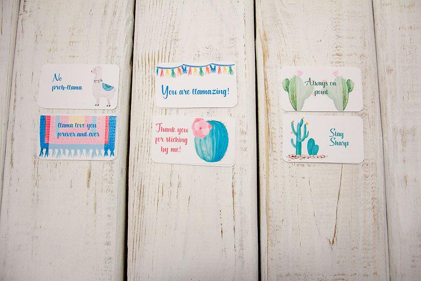 Llama and Cactus - Mini Cards
