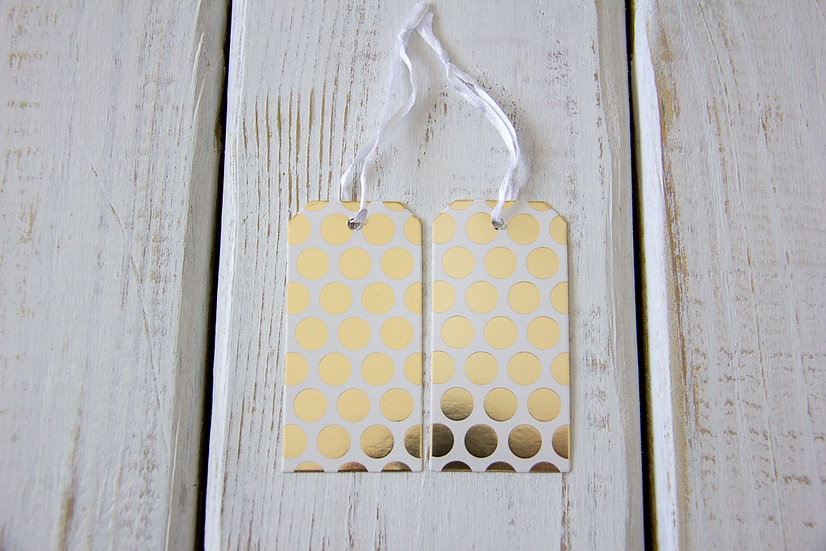 Gold Dot - Gift Tags