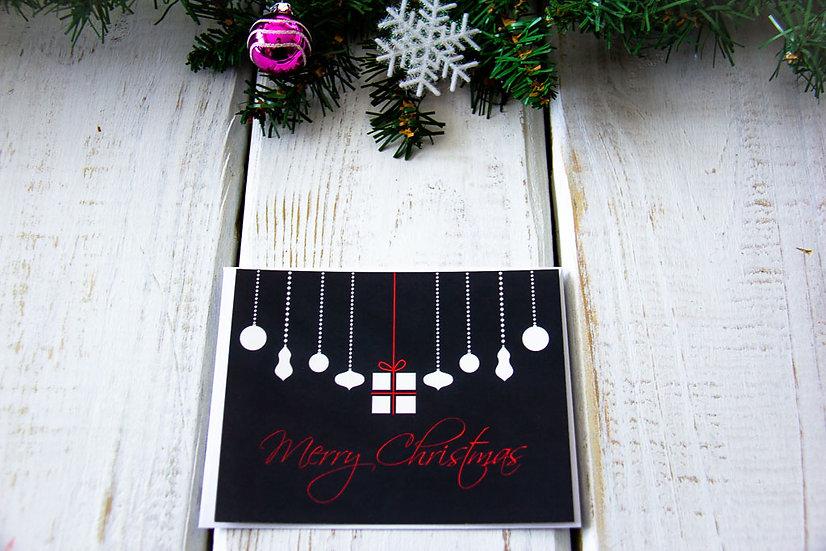 Merry Christmas Bulbs Postcard