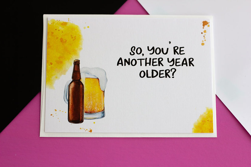 Aw, Piss (Birthday) - Greeting Card