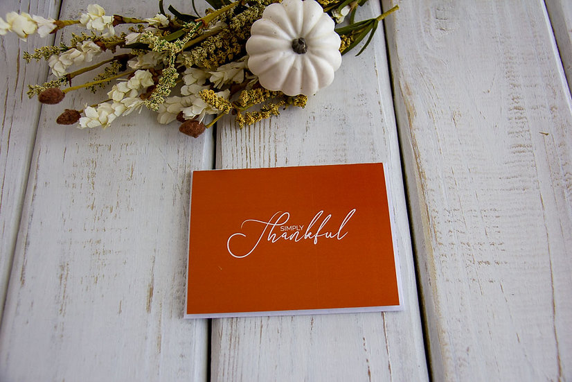 Thankful For You - Note Card