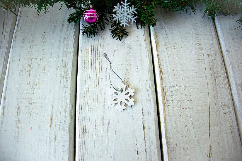 Wooden Snowflake - Gift Embellishment