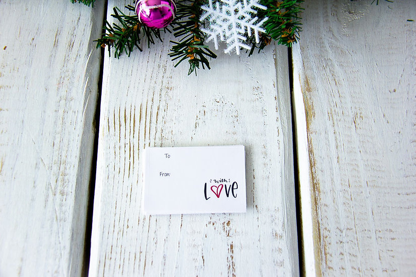 With Love - Adhesive Gift Tags