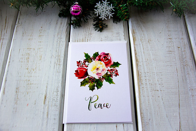 Peaceful Christmas Greeting Card