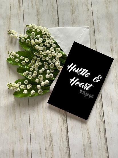 Hustle & Heart - Greeting Card