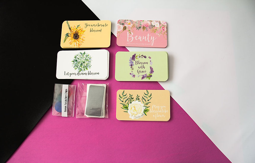 Scratch Off Mini Cards - Blossom