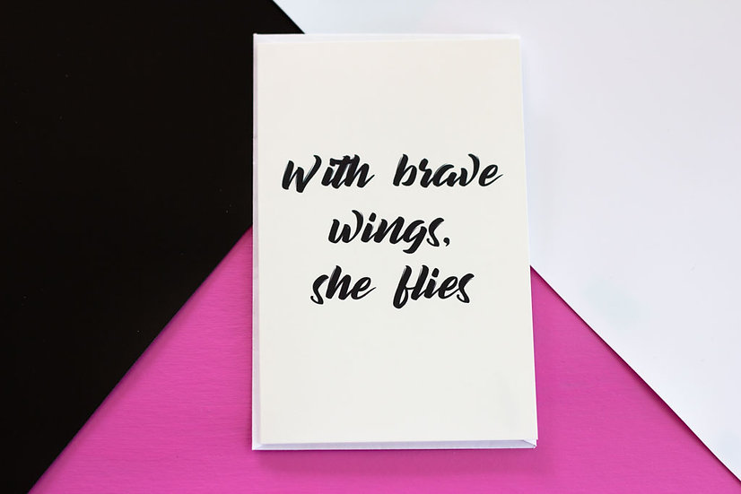 Brave Wings - Greeting Card