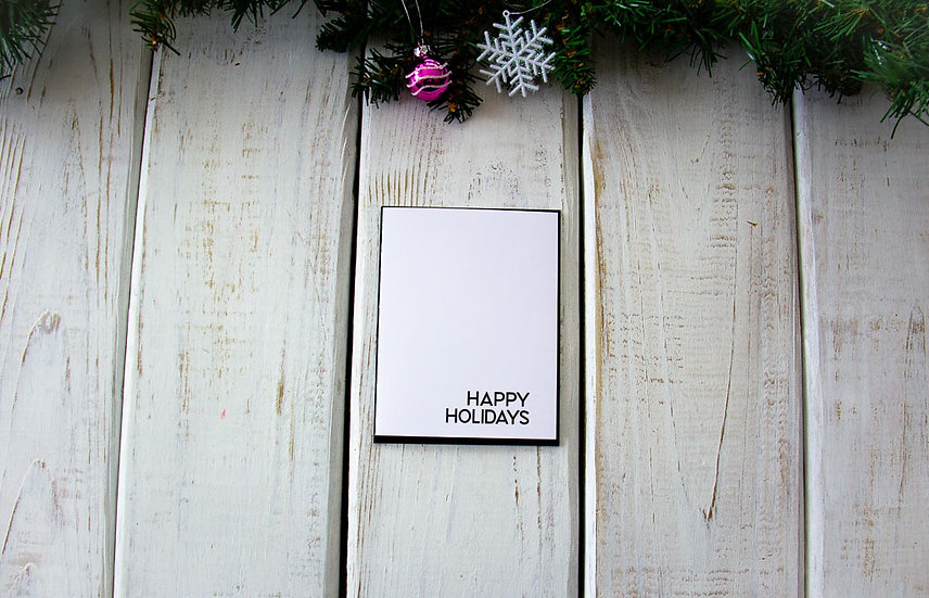 Happy Holidays - Note Card