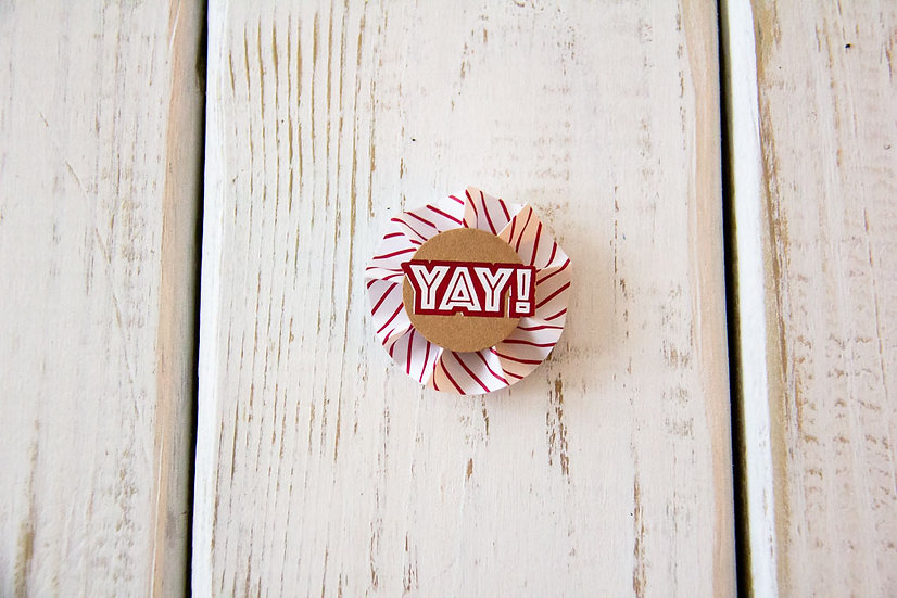 Yay Red - Gift Wrap Embellishment
