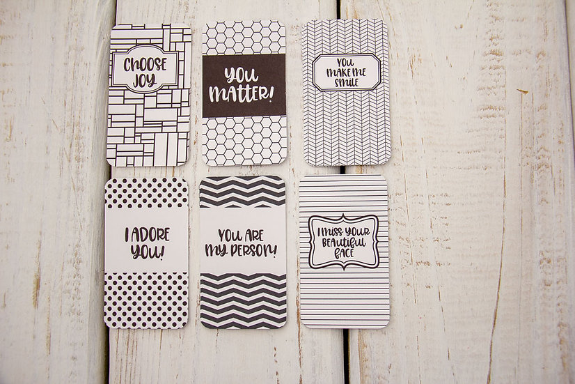 Black and White Chic - Mini Cards