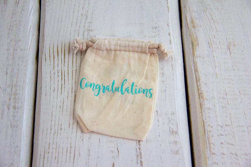 Congratulations - Muslin Gift Card Pouch