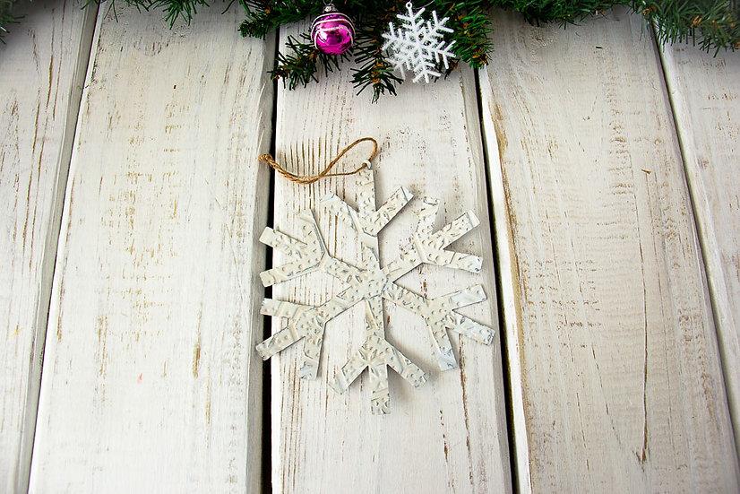 Snowflake - Metal Ornament