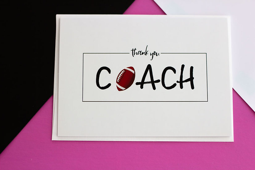 Thank You Coach (Football) - Greeting Card