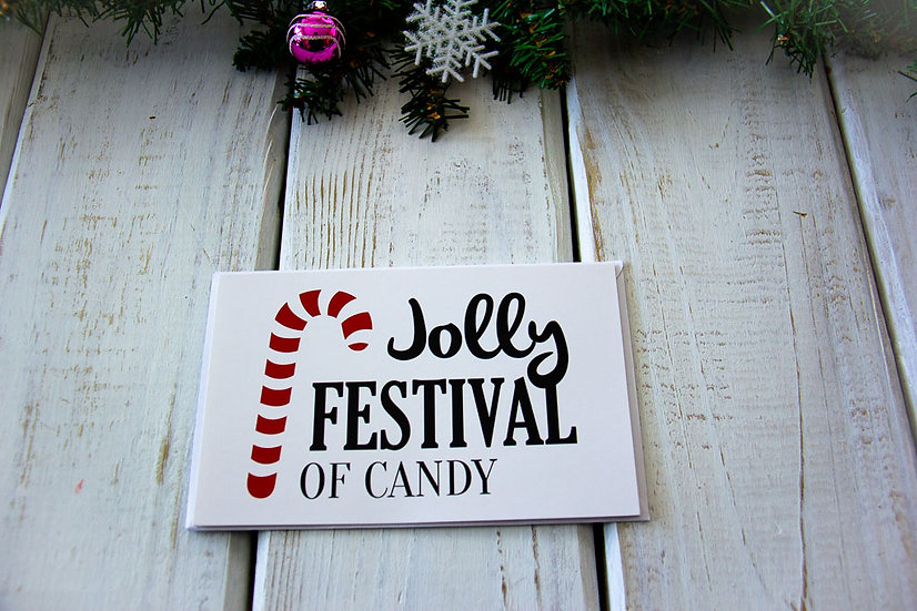 Jolly Festival of Candy Greeting Card