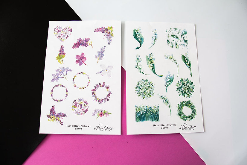 Lilacs and Lilies - Stickers