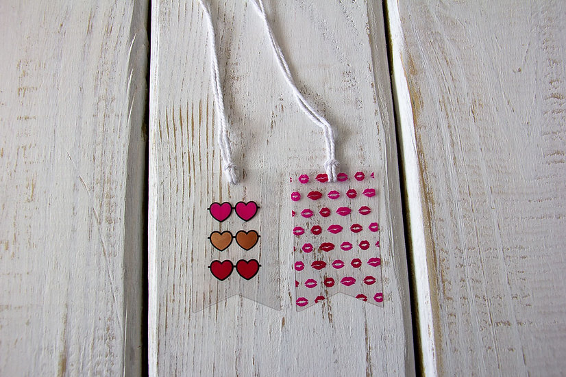 Sunglasses and Lips Clear Gift Tags