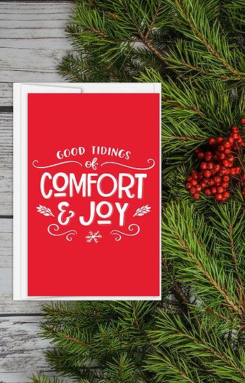 Comfort and Joy - Greeting Card