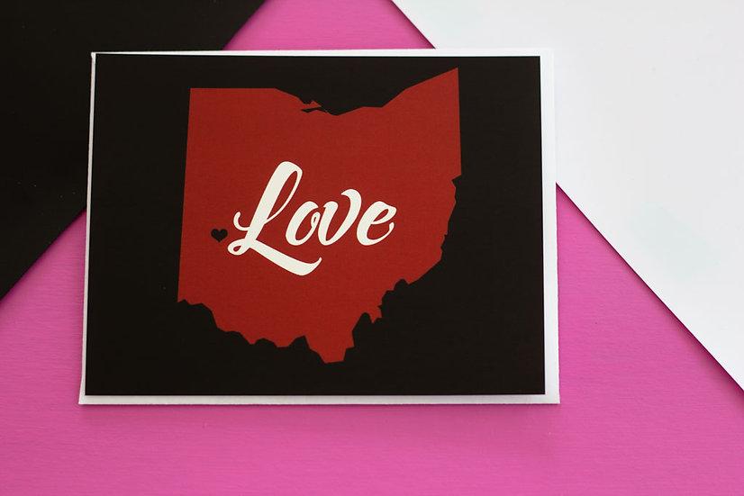Ohio love - Post Card