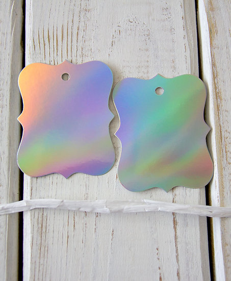 Ornamental Hologram Gift Tags