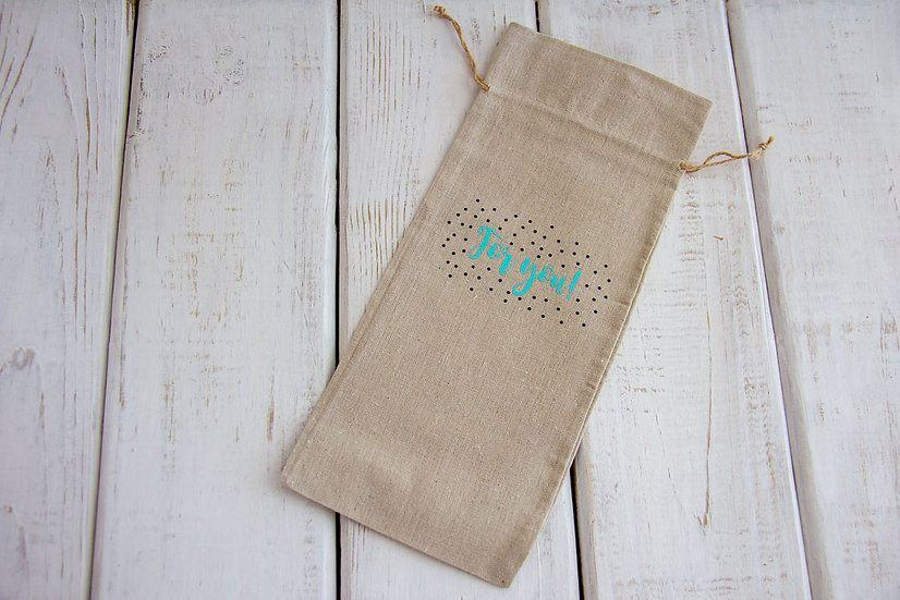For You - Canvas Alcohol Gift Bag