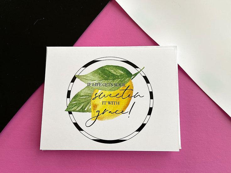 Sweeten it with Grace Note Card