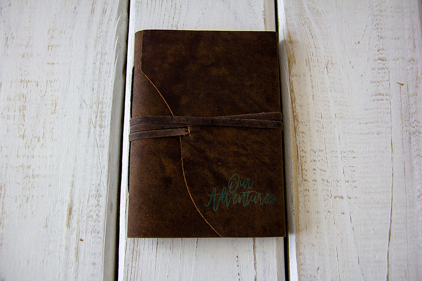 Our Adventures - Small Leather Journal