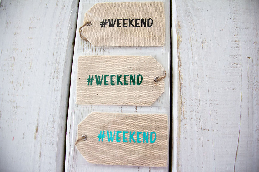 #Weekend - Canvas Gift Tag