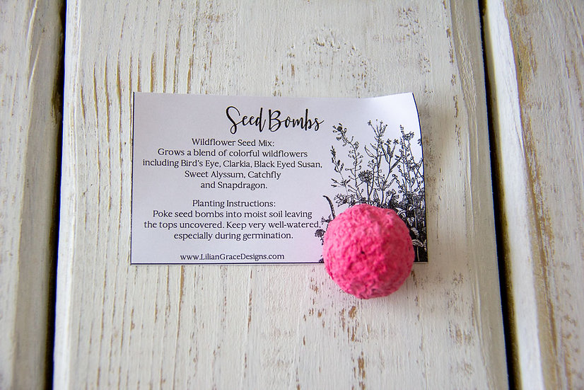 Seed Bombs - Wildflowers or Herbs