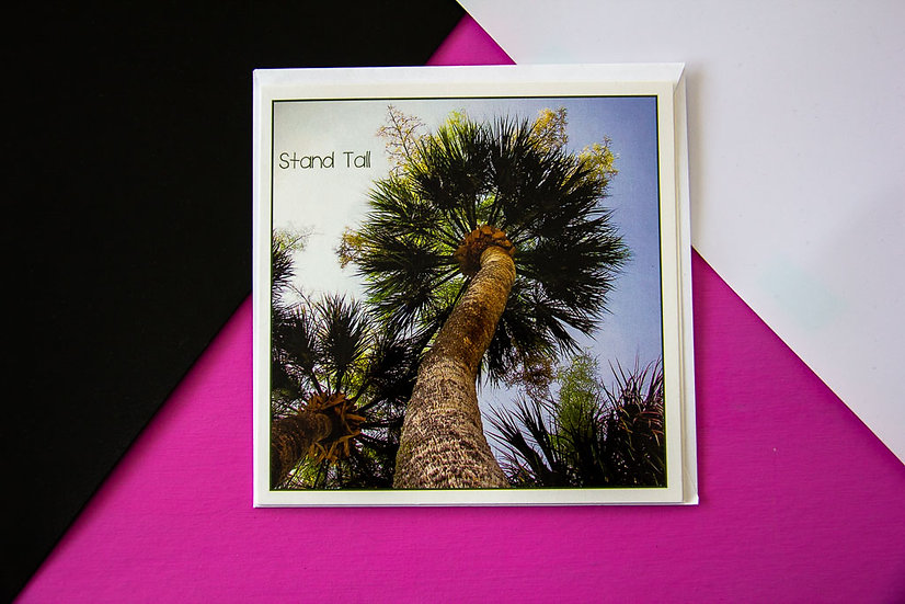 Stand Tall - Square Greeting Card