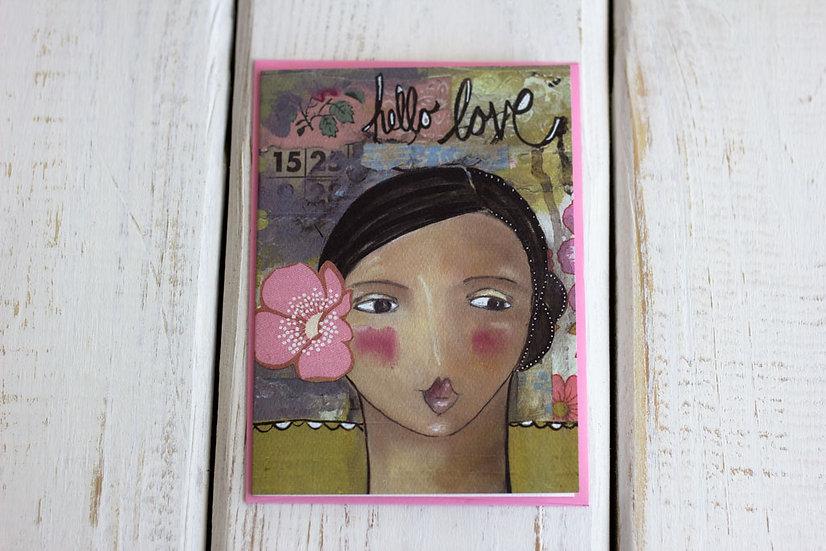 Hello Love - Greeting Card