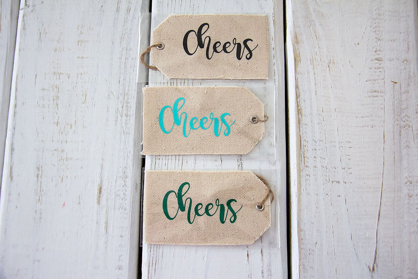 Cheers - Canvas Gift Tag